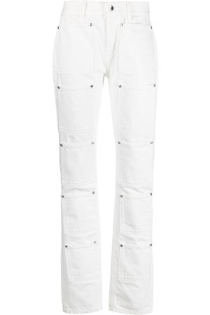 Lourdes High-rise multi-pocket flared jeans