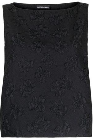 Emporio Armani Embroidered floral sleeveless top