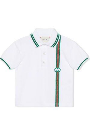 Gucci Kids Interlocking-G Web polo shirt