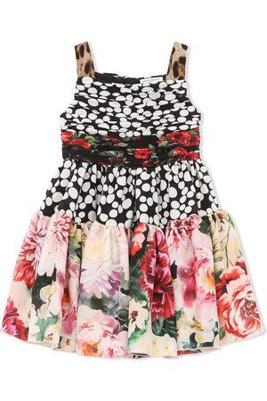 Dolce & Gabbana Kids Polka-dot floral-print dress