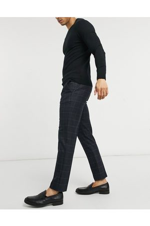 River Island Skinny smart pants in navy check