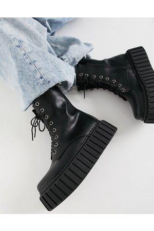 Lamoda Chunky creeper boots in