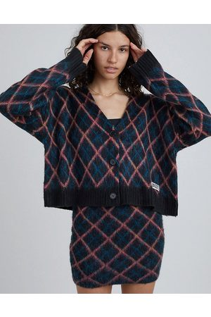 The Ragged Priest Oversized cardigan in argyle knit
