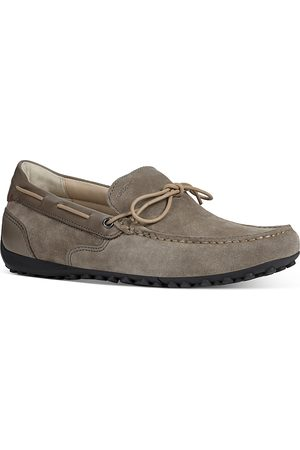 Geox Men's Snake Suede & Leather Moccasins