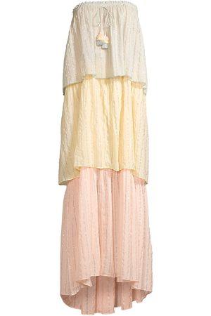 PQ Women's Briar Colorblocked Strapless Teired Maxi Dress - Size Medium