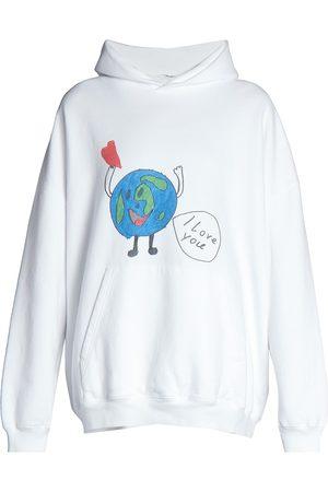 Balenciaga Women's Love Earth Oversized Graphic Hoodie - - Size XXS