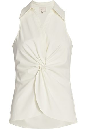 Cinq A Sept Women's Mckenna Sleeveless Knotted Top - Ivory - Size XS