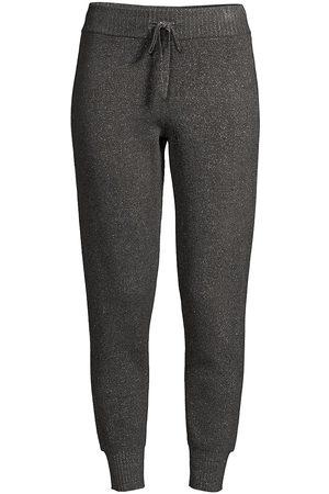 Barefoot Dreams Women's Slim Rib-Trim Joggers - Carbon Lurex - Size XS