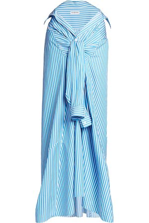 Balenciaga Women's Tied-Up Maxi Skirt - Azure - Size 8