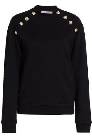 Derek Lam Women's Lucie Sailor Button Sweatshirt - - Size XL