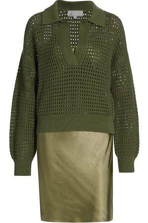 DH New York Women's Kiki Polo Knit Slip Dress - Olive - Size XS