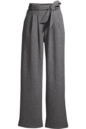 Leset Women's Sienna High-Rise Wide-Leg Trousers - Heather Grey - Size XL
