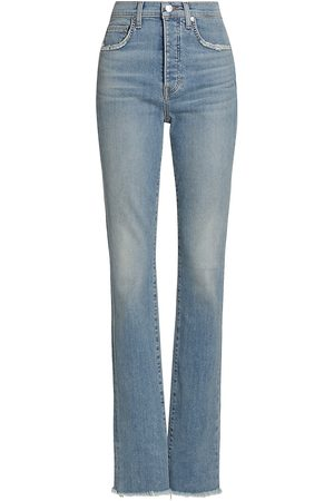 VERONICA BEARD Women's Ryleigh Slim-Fit Straight Cuff Jeans - Waterfall - Size Denim: 31