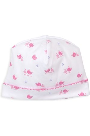Kissy Kissy Baby Girl's Breaching Whales Printed Hat - - Size Newborn