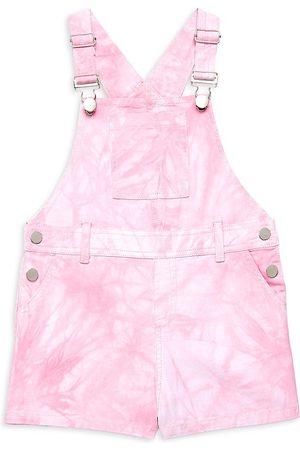 Design History Girl's Tie-Dye Denim Overall Shorts - Combo - Size 6