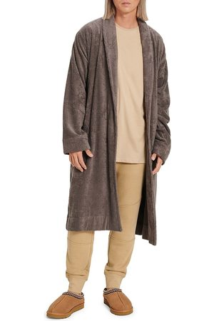 UGG Men's Novelty Turner Terry Robe - Dark Grey - Size Large/XL