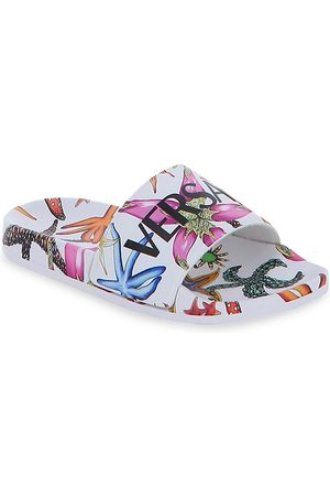 VERSACE Kid's Tresor de la Mer Print Slide Sandals - Multi - Size 5 (Child)