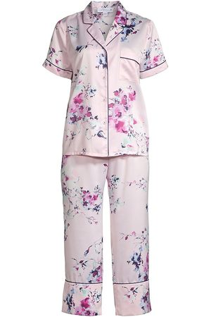 In Bloom Women's Hungtington Floral 2-Piece Pajama Set - - Size Small