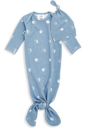 Aden + Anais Baby's 2-Piece Polka Dot Knit Gown & Hat Set - - Size Newborn