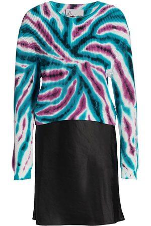 DH New York Women's Tie-Dye Combo Slip Dress - Size Medium