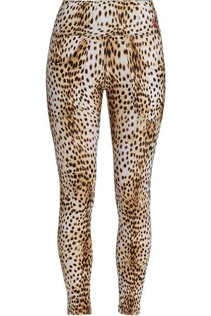 R13 Women's Leopard Patch Pocket Leggings - Cheetah - Size XS