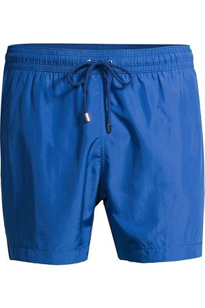 Saks Fifth Avenue Men's COLLECTION Drawstring Swim Trunks - Quartz - Size Large
