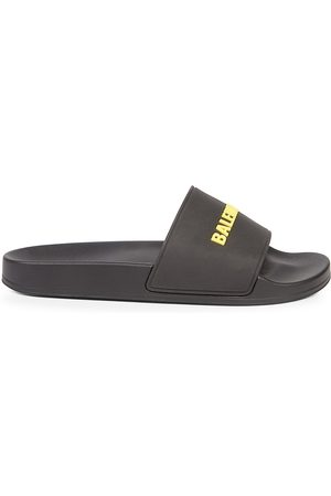 Balenciaga Men's Logo Pool Slides - - Size 7 Sandals