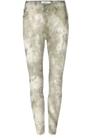 Hudson Women's Barbara High-Rise Tie-Dye Super Skinny Jeans - Sage Fatigue Tie Dye - Size Denim: 32