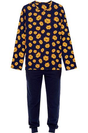 Hom Men's Luber 2-Piece Long-Sleeve Top & Pants Pajama Set - Navy Print - Size Small