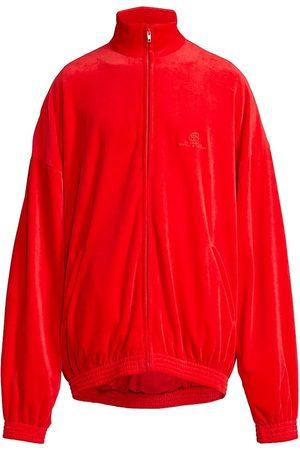 Balenciaga Men's Velour Tracksuit Jacket - Tango - Size XS