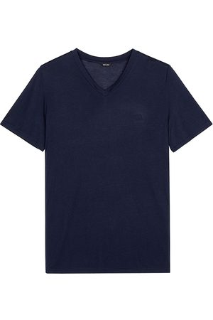 Hom Men's V-Neck T-Shirt - Navy - Size Small