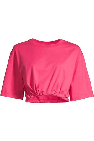 Les Girls Les Boys Women's Jersey Cropped Top - Raspberry - Size XL