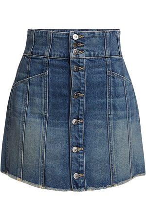 VERONICA BEARD Women's Flora Denim Mini Skirt - Waterfall - Size 6