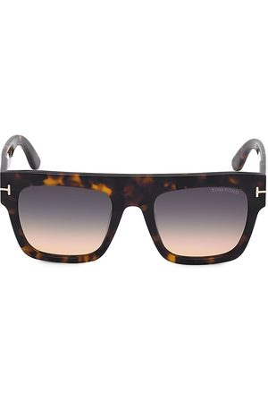 Tom Ford Men Square - Men's Havana & Gradient Smoke 52MM Square Sunglasses - Vintage Havana