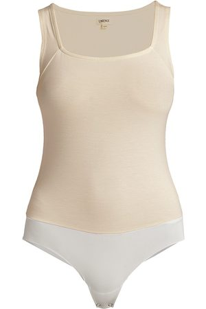 L'Agence Women's Molly Squareneck Bodysuit - Vintage - Size Small