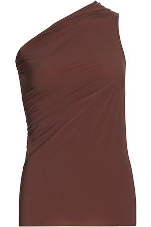 Rick Owens Women's Athena One-Shoulder Tank Top - Throat - Size 10