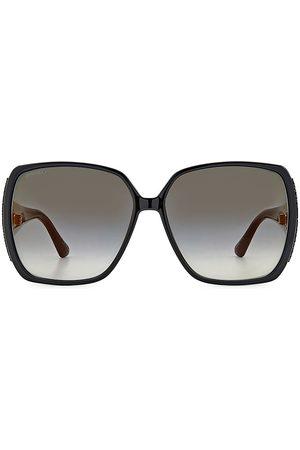 Jimmy Choo Women's Cloe 62MM Square Glitter Sunglasses