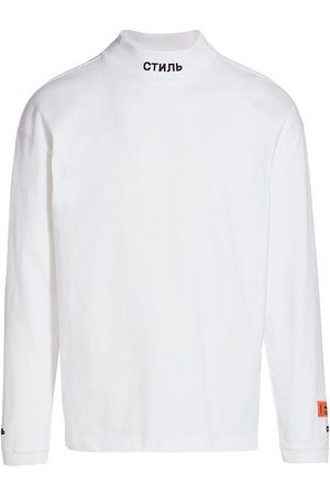 Heron Preston Men's Mockneck Long-Sleeve T-Shirt - - Size XXL