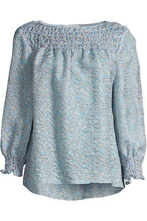 Lafayette 148 New York Women's Paley Jacquard Blouse - Fresh Multi - Size XL