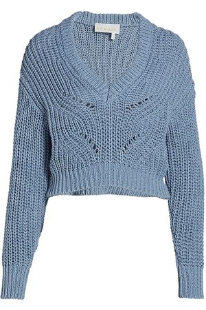 REMAIN Birger Christensen Women's Elise Organic Cotton Sweater - Faded Denim - Size 10