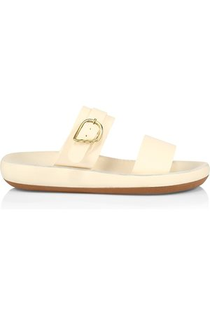 Ancient Greek Sandals Women's Preveza Leather Flatform Sandals - Off - Size 8