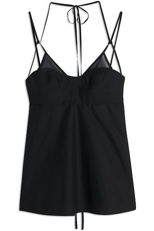 Victoria Beckham Women's Double Layer Silk Cami Top - - Size 4
