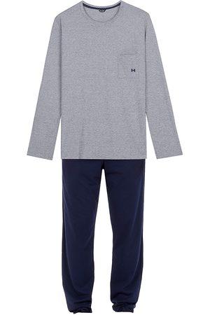 Hom Men's 2-Piece Long-Sleeve Top & Pants Pajama Set - Navy - Size Small