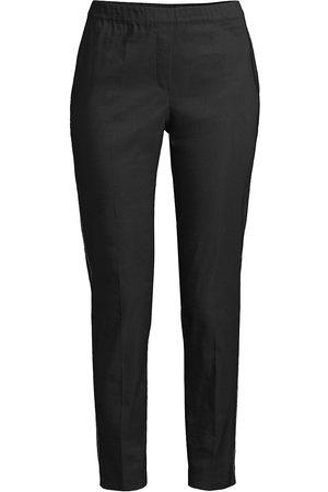 D.EXTERIOR Women's Stretch-Linen Bead-Trim Pull-On Pants - - Size 4