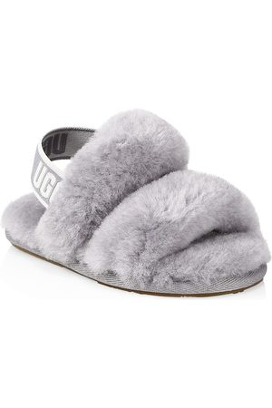 UGG Little Kid's and Kid's Oh Yeah Fur Slingback Slippers - Grey - Size 8 (Toddler)