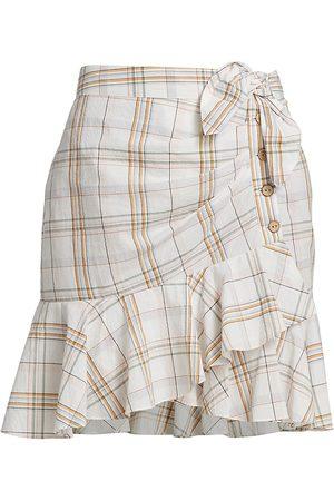VERONICA BEARD Women's Kaia Plaid Flounce Skirt - Size Small