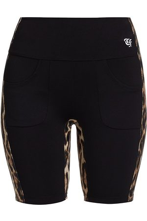 R13 Women's Leopard Side Stripe Biker Shorts - Combo - Size XS