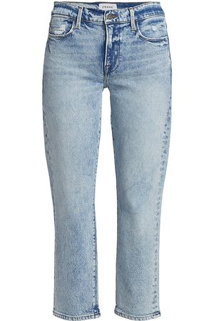 Frame Women's Le High Straight Cropped Jeans - Lombard - Size Denim: 27
