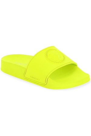 VERSACE Little Kid's and Kid's Missing English Localizza Embossed Slide Sandals - - Size 5.5 (Child)