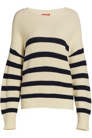Denimist Women's Sailor Striped Sweater - Ecru Navy Stripe - Size XS